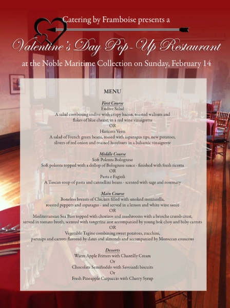 Valentine's Day Pop Up Restaurant (Noble Maritime)