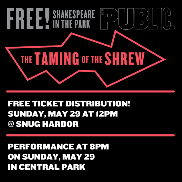 Shakespeare in the Park: Ticket Distribution @ Cottage D on Cottage Row