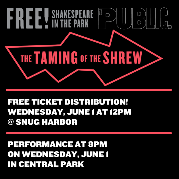 Shakespeare in the Park: Ticket Voucher Distribution @ Cottage D on Cottage Row