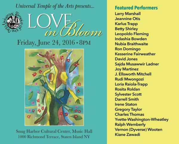 Universal Temple of the Arts Presents: Love in Bloom