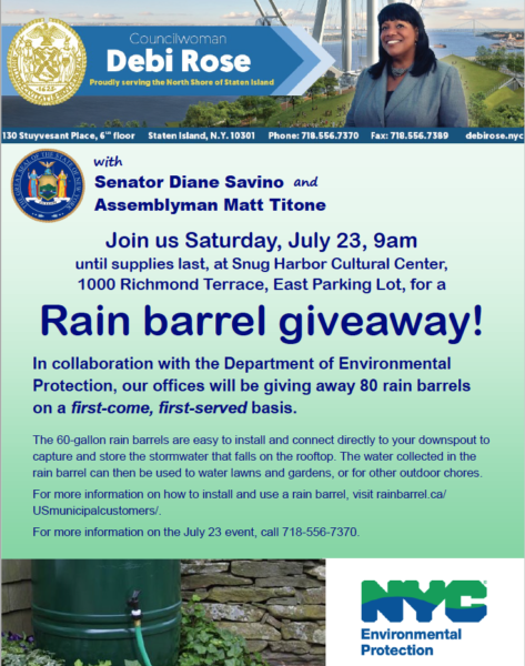 Rain Barrel Give Away