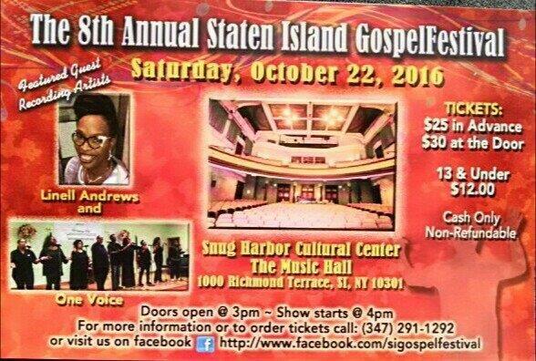 8th Annual Staten Island Gospelfest @ The Music Hall