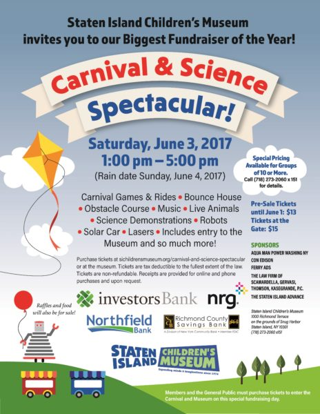 SI Children's Museum: Carnival and Science Spectacular