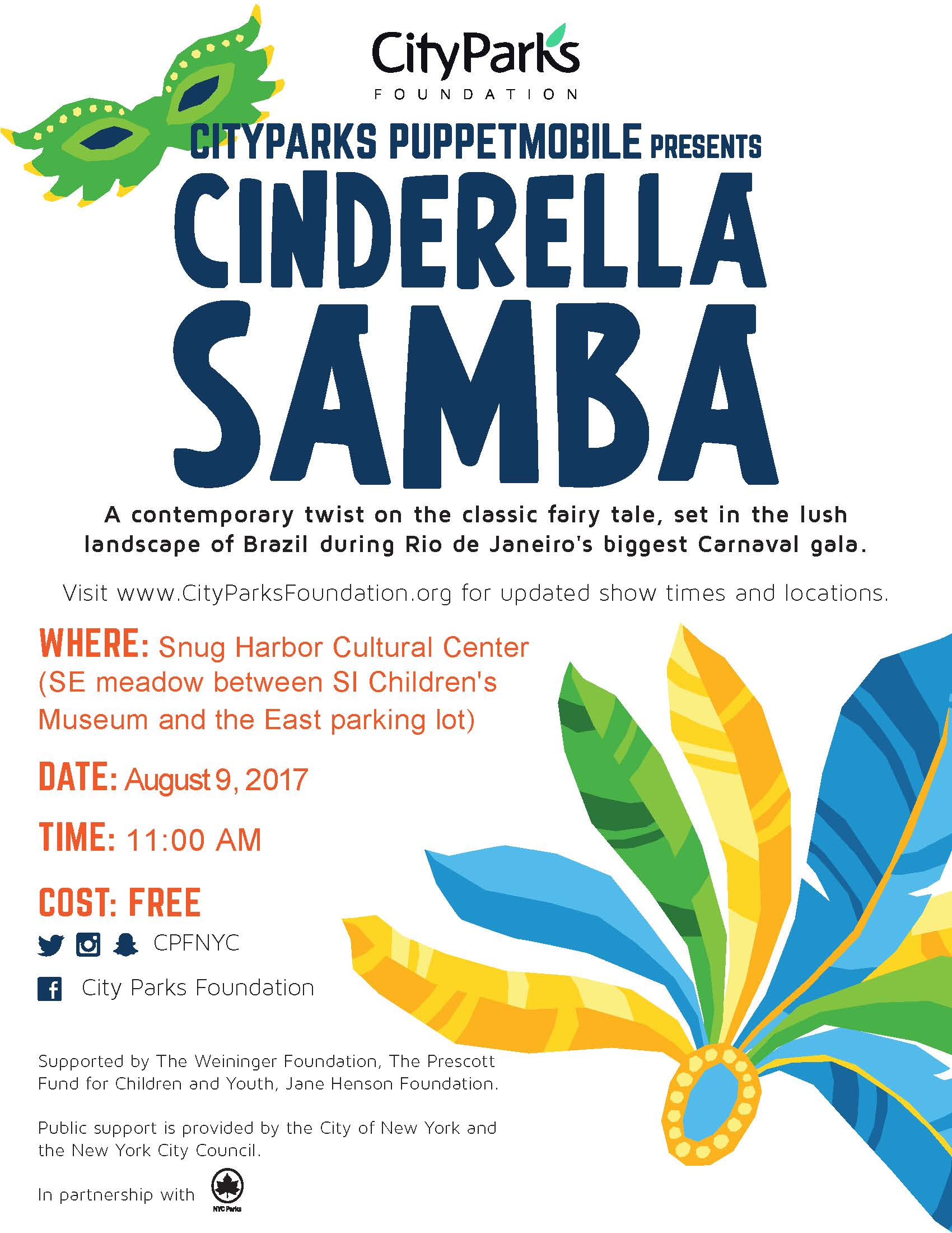 City Parks Puppet Mobile presents: Cinderella Samba @ East Meadow