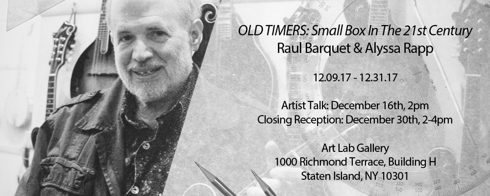 Art Lab Artist Talk: Old Timers: Small Box In The 21st Century