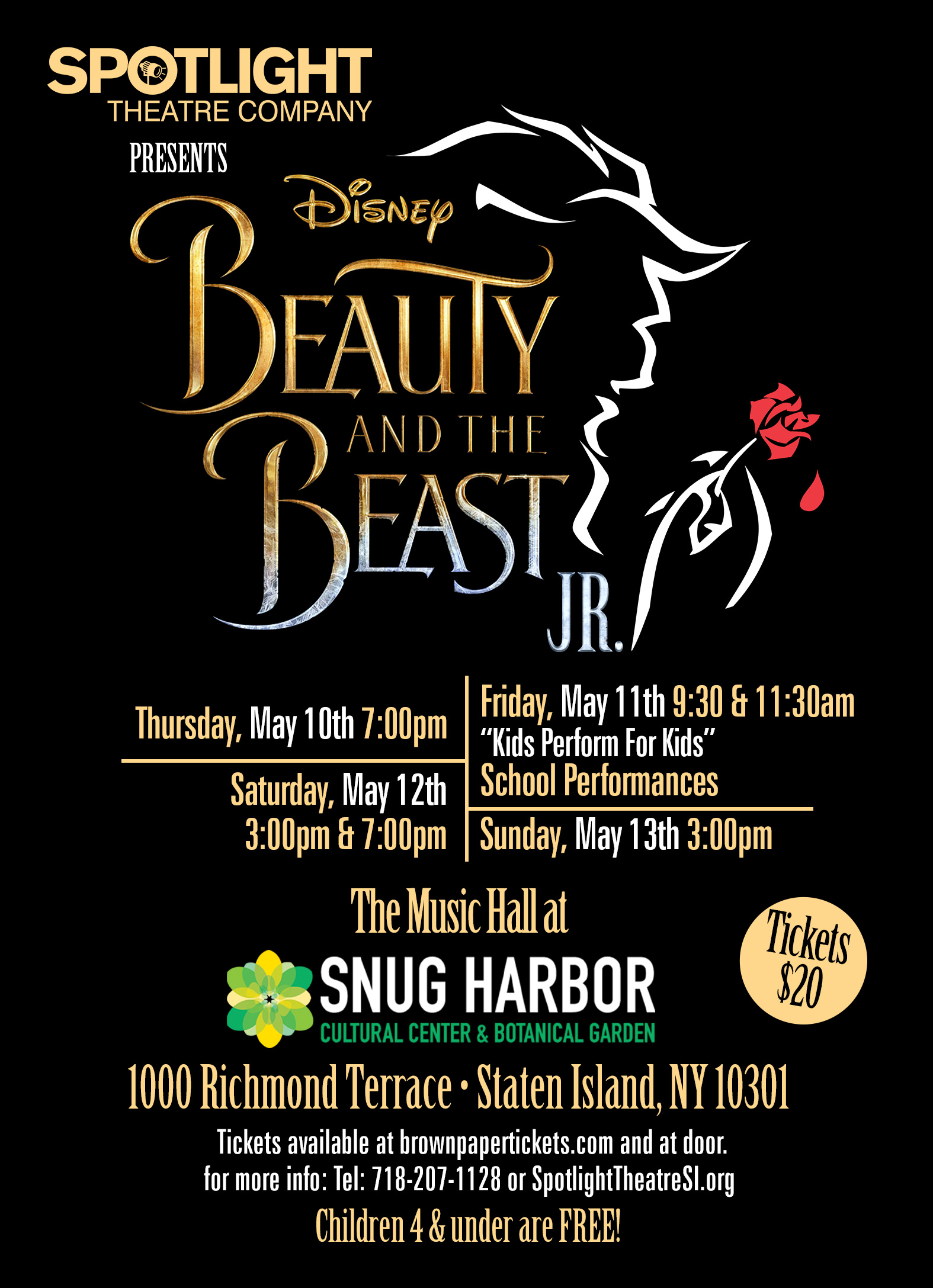 Spotlight Theatre presents Beauty & the Beast