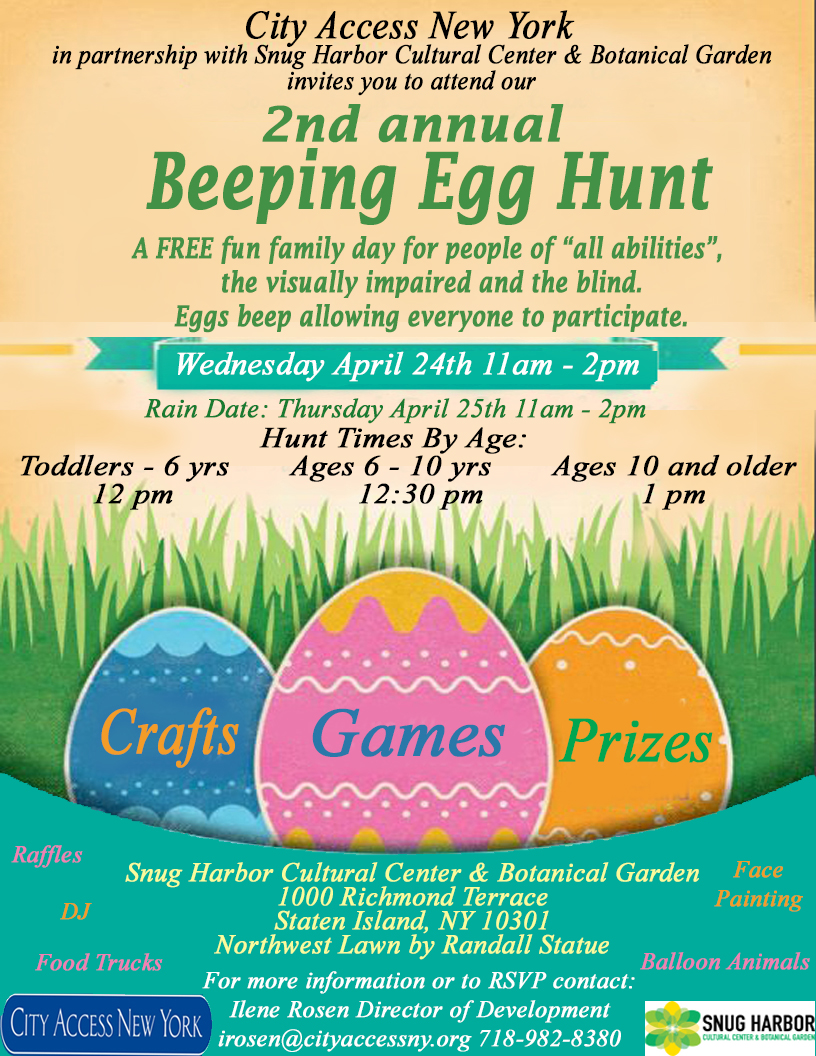 City Access Presents: 2nd Annual Beeping Egg Hunt