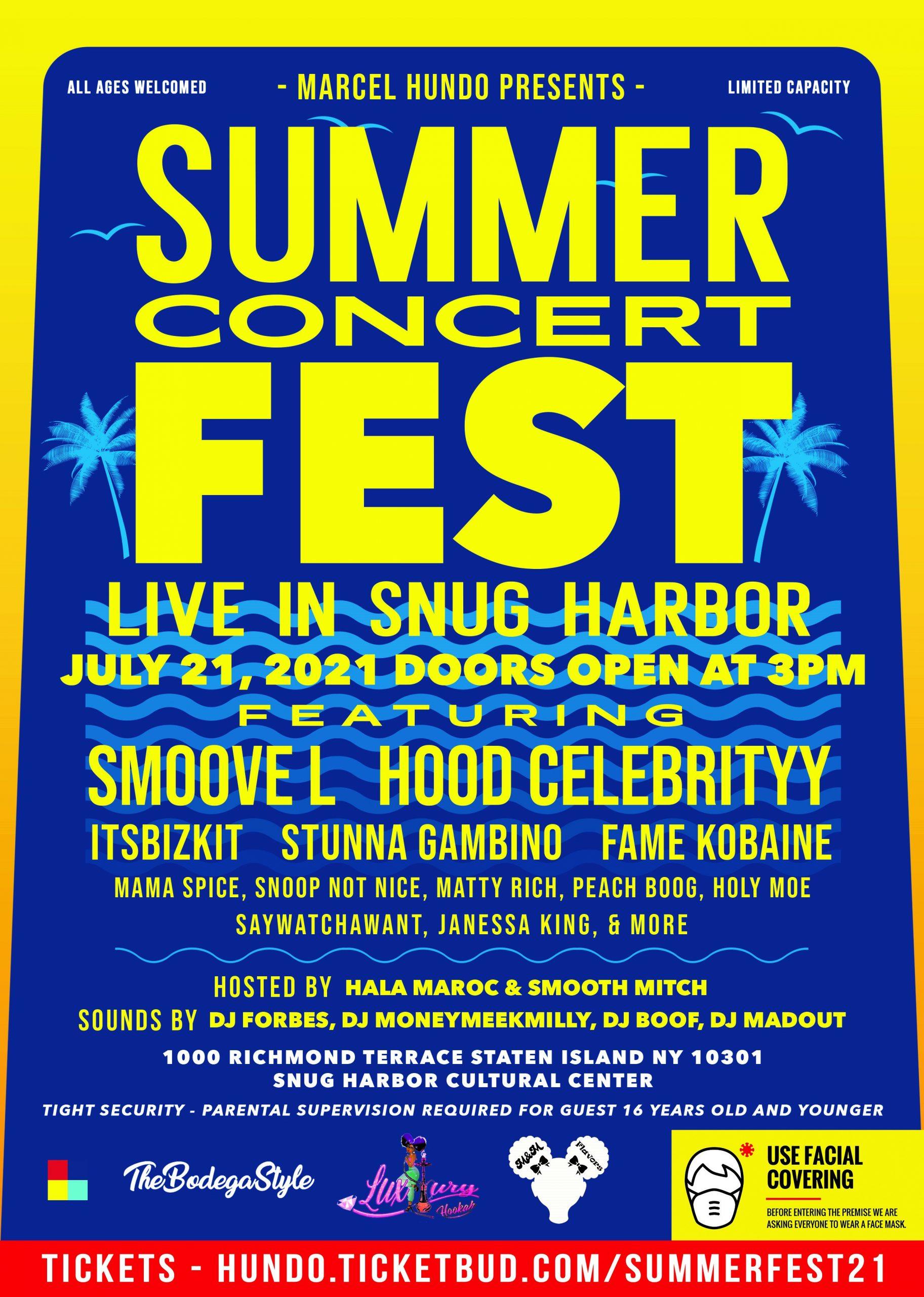 CANCELLED: Marcel Hundo presents: Summer Concert Fest: Live in Snug Harbor