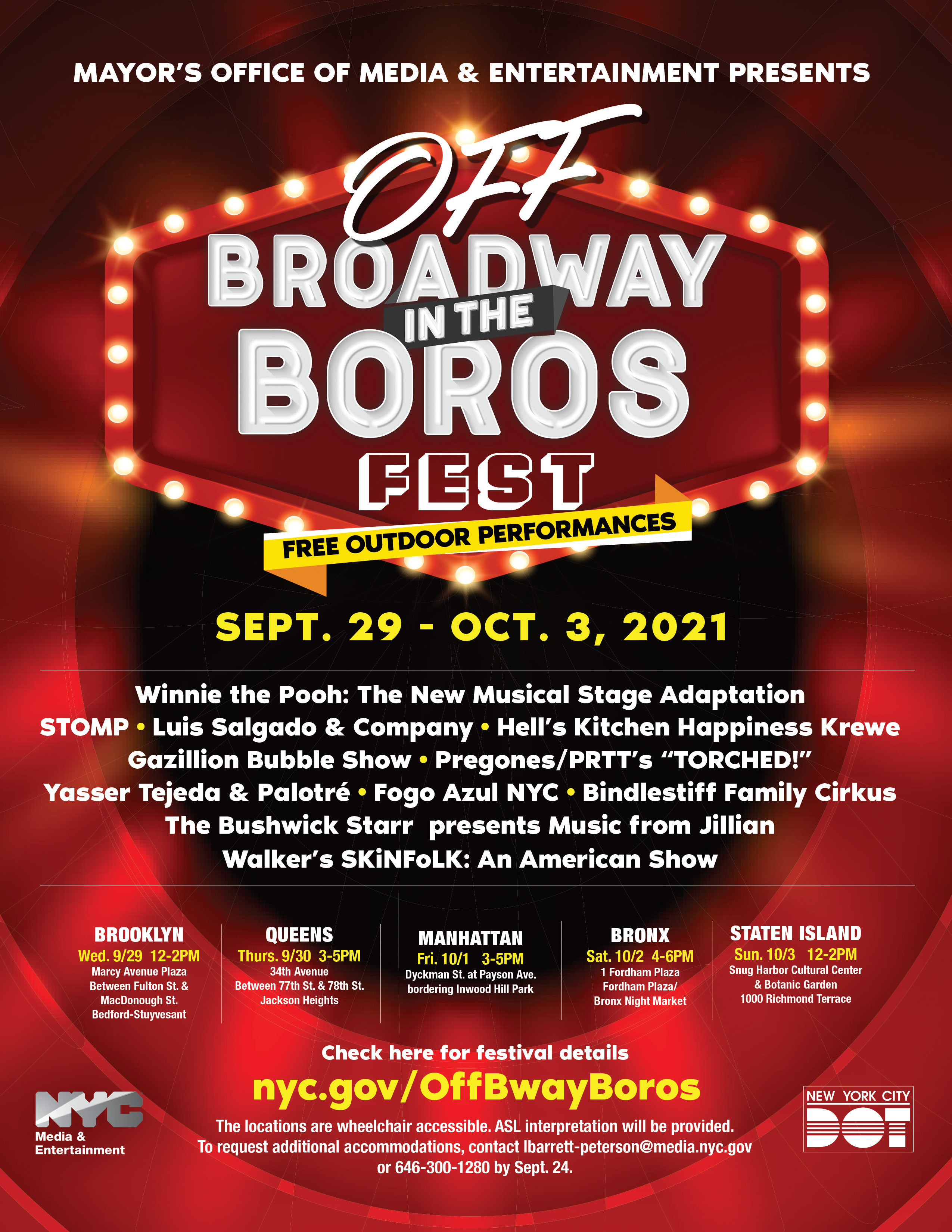 Off Broadway in the Boros: Presented by the Mayor's Office of Media and Entertainment